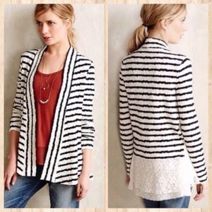 Anthropologie Postmark Plaited Pitch Cardigan